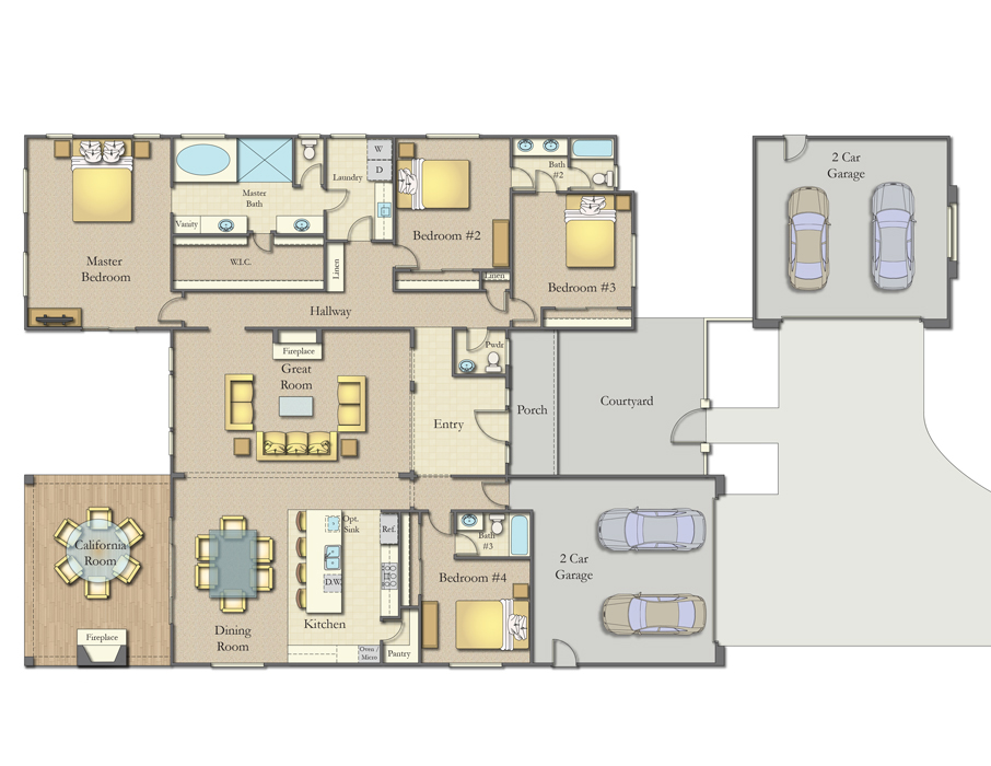 The Ranches, Wildomar - Single Story Floor Plan