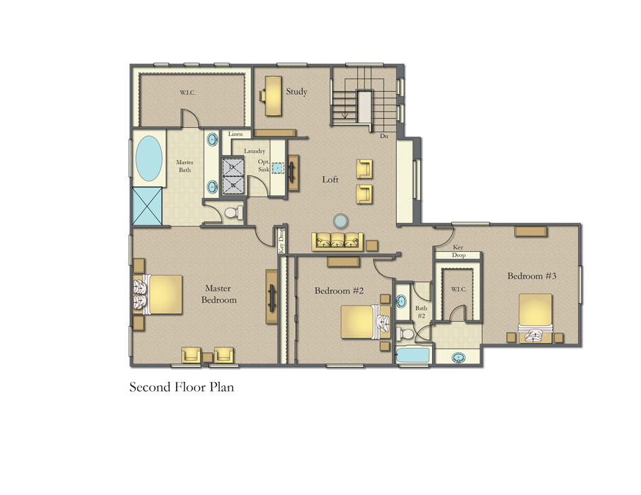 The Ranches, Wildomar - Two Story Second Floor Plan