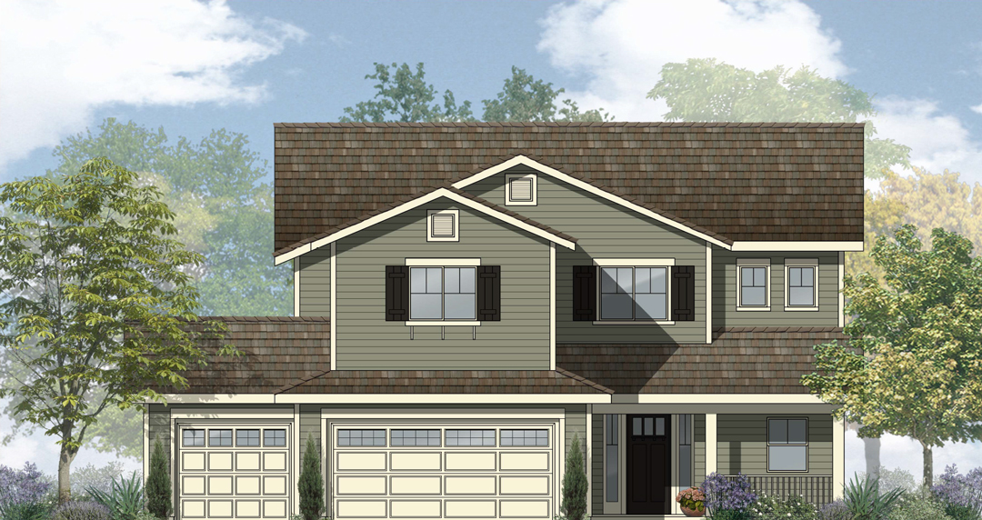 Plan 3365 — The Ranches Two Story Home Elevation