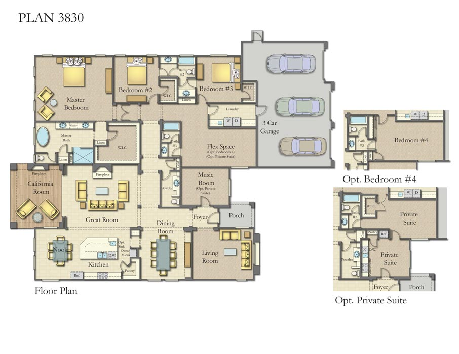 Laguna Estates, Fullerton Plan 3830
