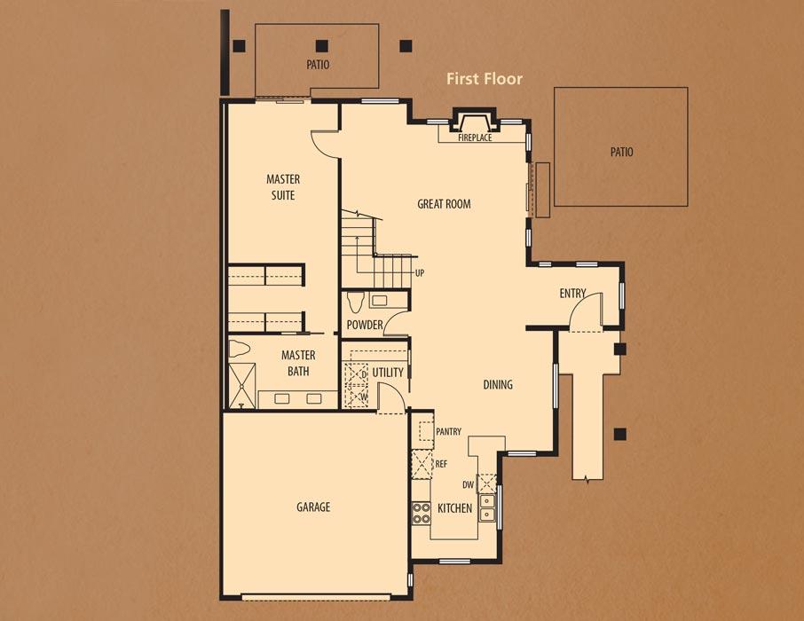 Bear Creek Villas, Murrieta: Villa One First Floor