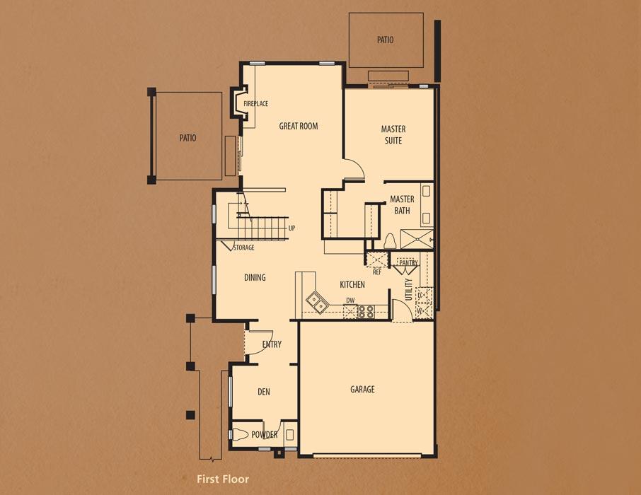 Bear Creek Villas, Murrieta: Villa Two First Floor