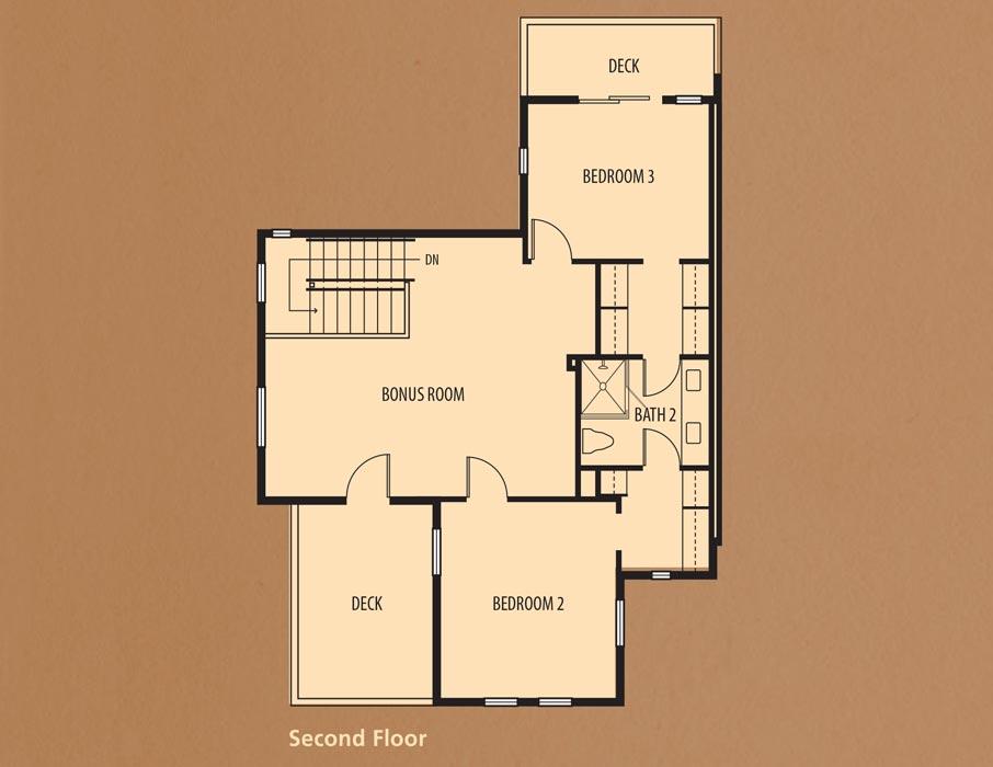 Bear Creek Villas, Murrieta: Villa Two Second Floor