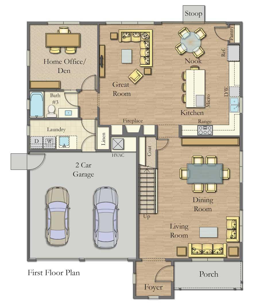 Plan B Floor 1 Plan, Bordeaux Oaks, Napa