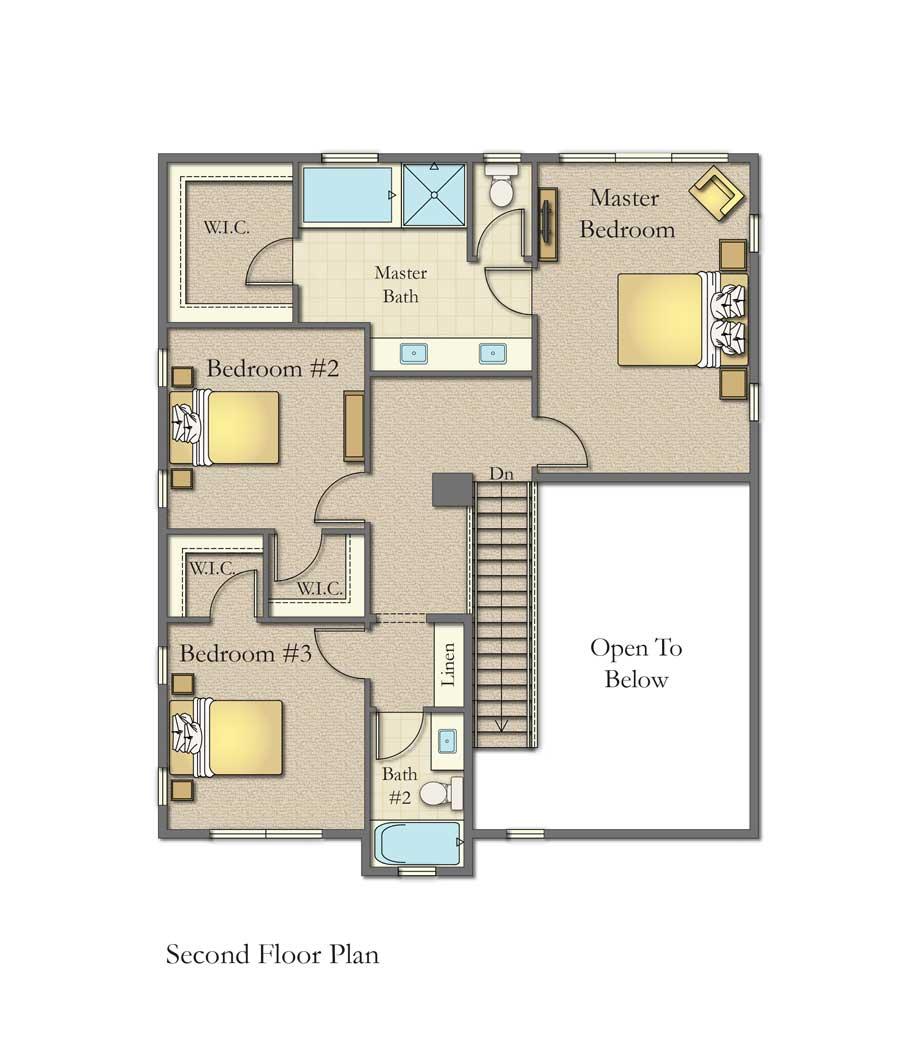 Plan B Floor 2 Plan, Bordeaux Oaks, Napa