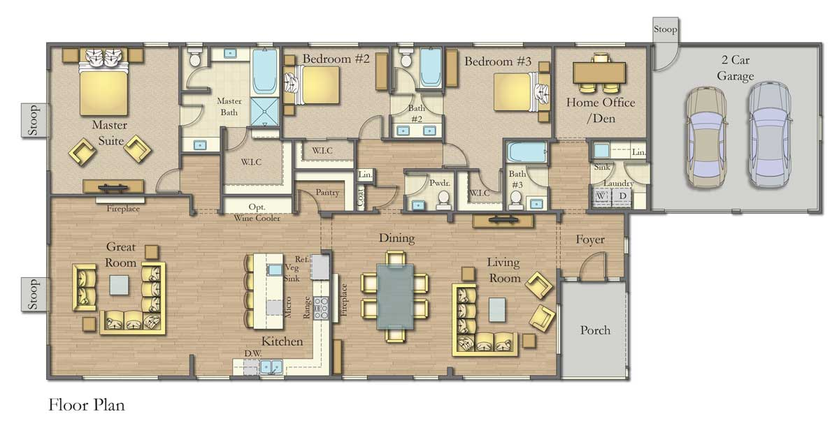 Plan C Floor Plan, Bordeaux Oaks, Napa